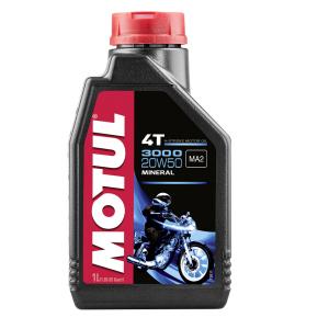 Motorolie 3000 4T SAE 20W-50, 1 Liter mineraal